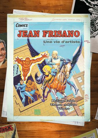 Jean Frisano - Une vie d'artiste, comics chez Neofelis éditions de Fadde, Frisano, Frisano, Frisano
