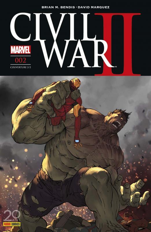 Civil War II T2, comics chez Panini Comics de Bendis, Marquez, Shalvey, Coipel, Ponsor, Bellaire, Djurdjevic