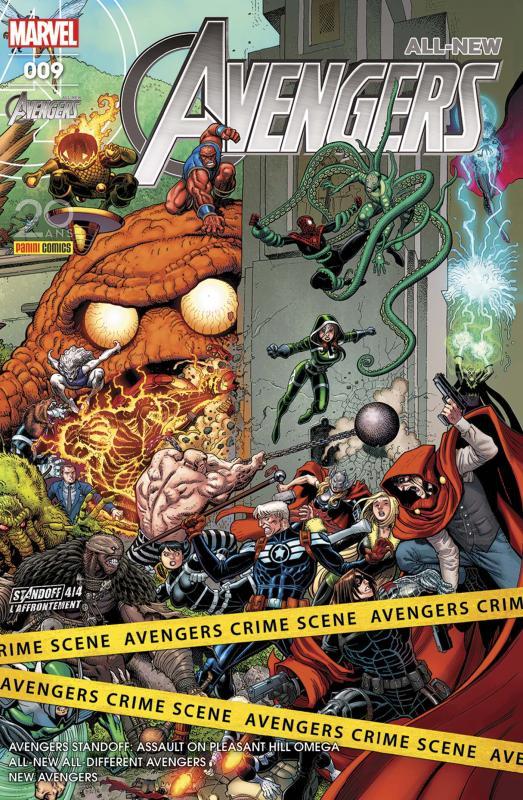 All-New Avengers (revue) T9 : L'affrontement (4/4) (0), comics chez Panini Comics de Spencer, Ewing, Waid, Asrar, Sandoval, Acuña, Unzueta, Almara, Wilson, McCaig, Adams