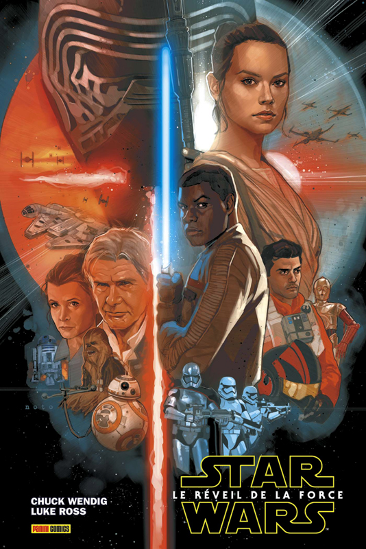 Star Wars - Le Réveil de la Force, comics chez Panini Comics de Wendig, Laming, Ross, Martin jr, Noto