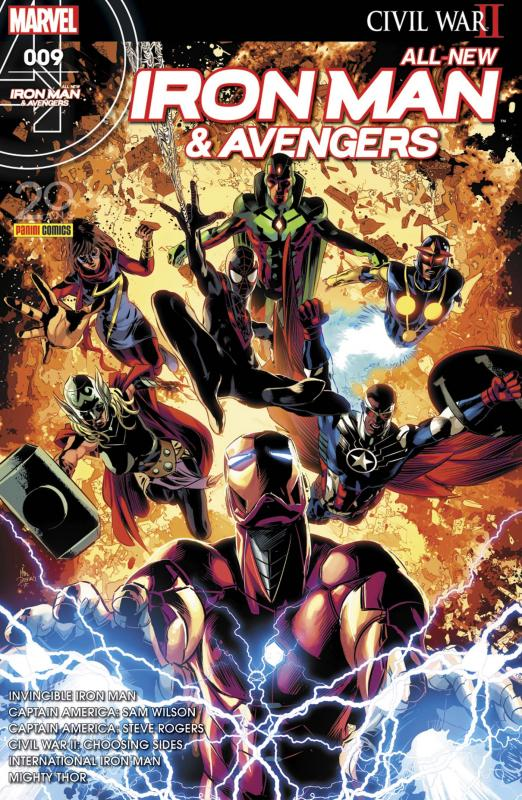 All-New  Iron Man & Avengers T9 : Attrape-moi si tu peux (0), comics chez Panini Comics de Bendis, Spencer, Sale, Thomas, Aaron, Dauterman, Maleev, Rudy, Deodato Jr, Saiz, Unzueta, Stewart, Peter, Martin jr, Mounts, Wilson