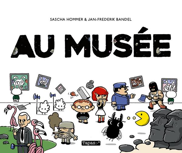 Au musée, bd chez Delcourt de Bandel, Hommer