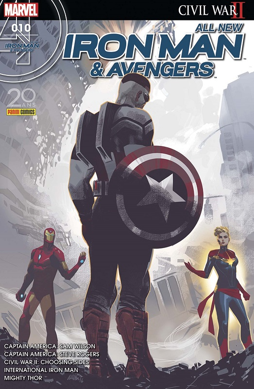 All-New  Iron Man & Avengers T10 : Les coulisses de la guerre (0), comics chez Panini Comics de Doyle, Bendis, Spencer, Aaron, Sepulveda, Maleev, Dauterman, Pina, Acuña, Saiz, Byrne, Mounts, Rosenberg, Wilson