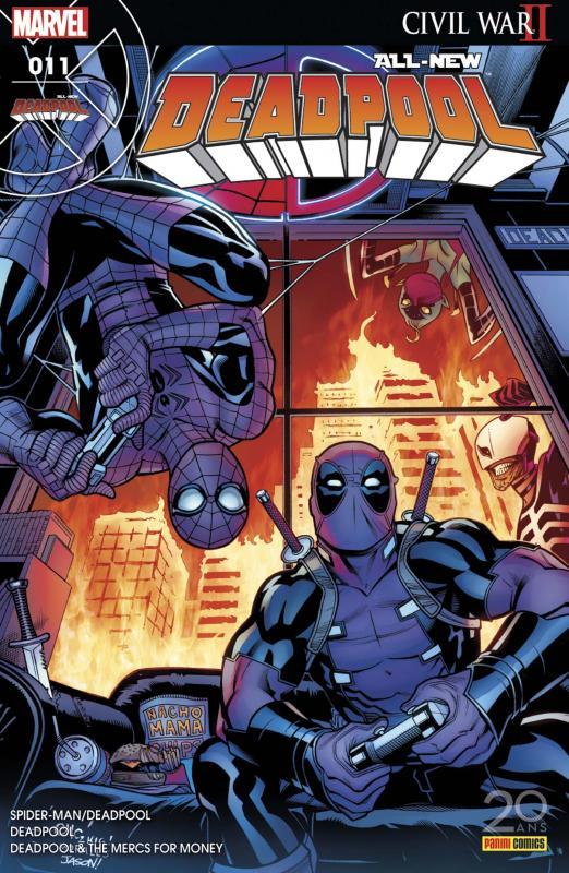All-New Deadpool (revue) T11 : L'araignée Gipsy (0), comics chez Panini Comics de Bunn, Duggan, Kelly, Coello, McGuinness, Hawthorne, Guru efx, Bellaire, Keith