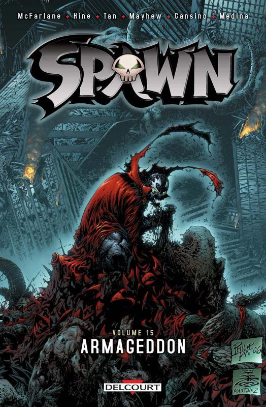 Spawn – Archives, T15 : Armageddon (0), comics chez Delcourt de Hine, Mayhew, Noora, Van Dyke, Tan, Cansino, Medina, Troy, Milla, Haberlin, Hannin