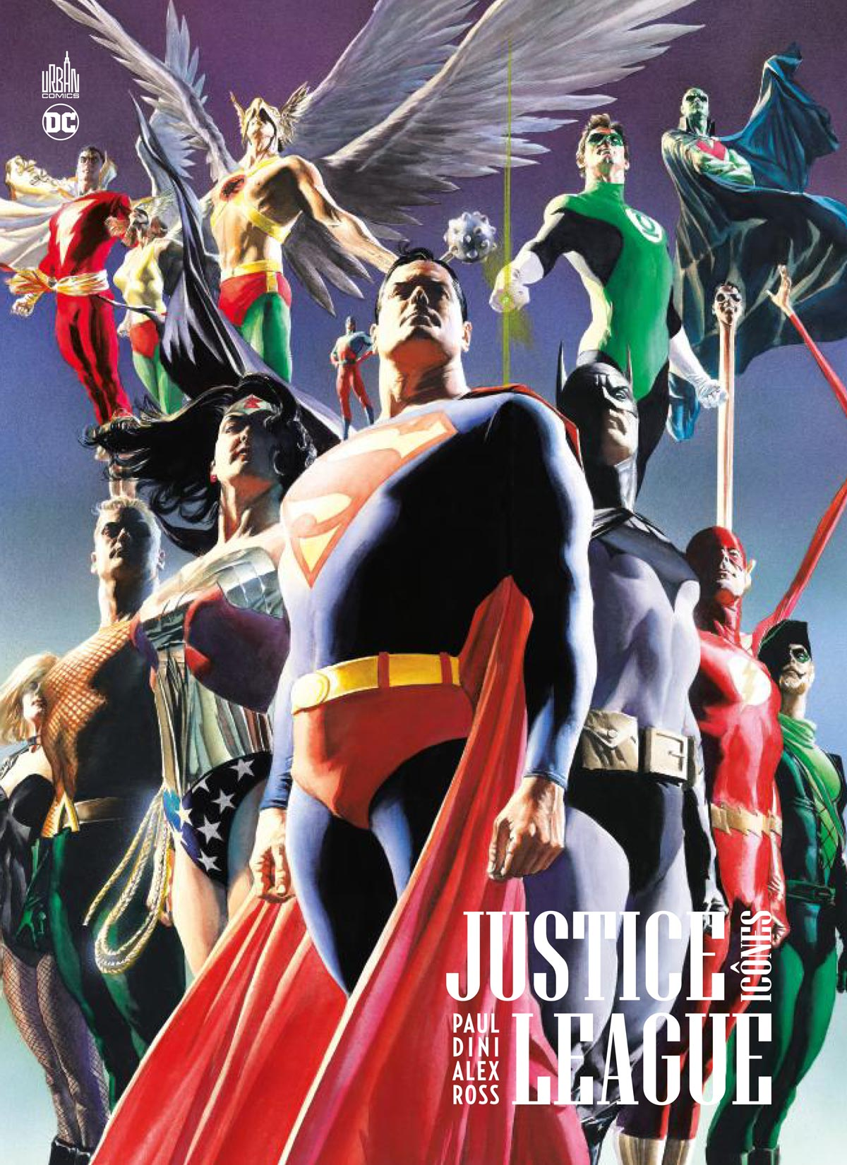 Justice League - Icônes, comics chez Urban Comics de Dini, Ross