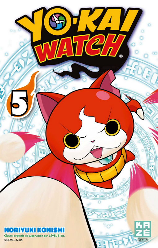 Yo-kai watch  T5, manga chez Kazé manga de Konishi, Level-5