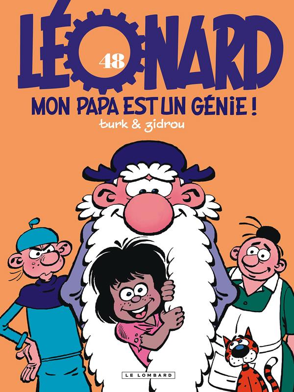 Léonard T48 : Mon papa est un génie (0), bd chez Le Lombard de Zidrou, Turk, Kael