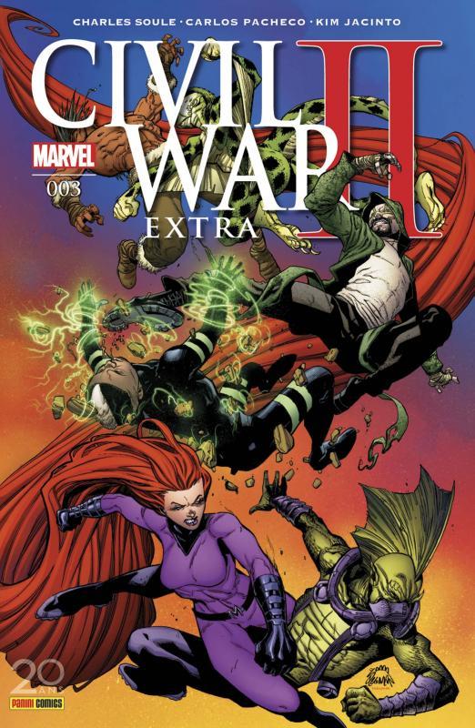 Civil War II Extra  T3, comics chez Panini Comics de Soule, Jacinto, Pacheco, Walker, Fabela, Curiel, Brown, Stegman