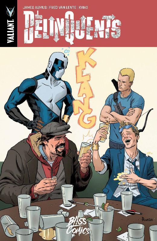 The Delinquents, comics chez Bliss Comics de Asmus, Van Lente, Kano, Doe, Rivera