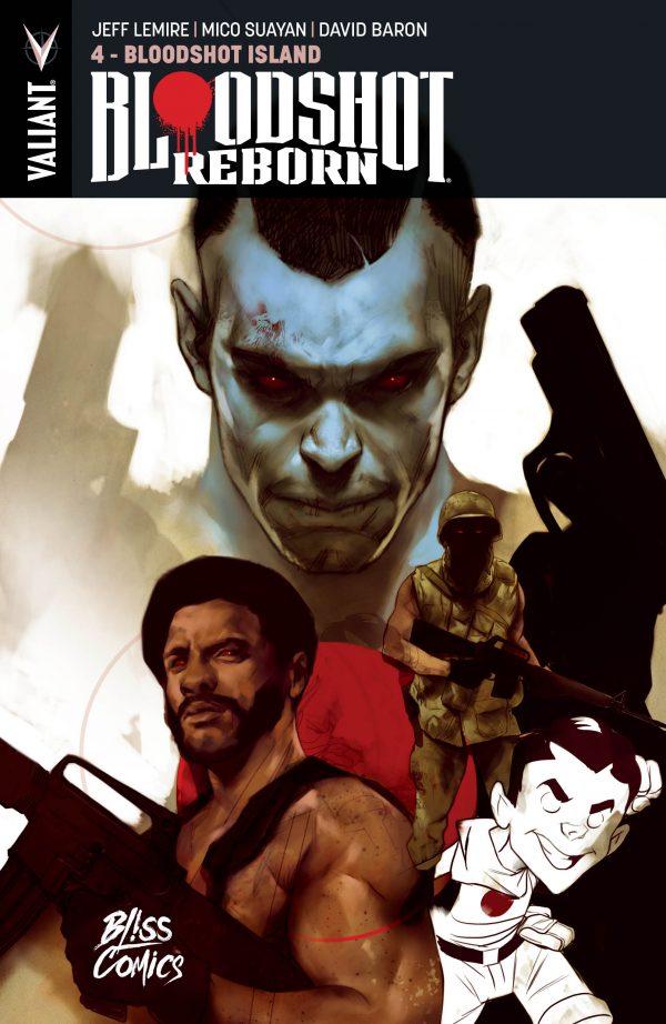 Bloodshot Reborn T4 : Bloodshot Island (0), comics chez Bliss Comics de Lemire, Fiffe, Fawkes, Suayan, Giorello, Bennett, Brabo, Kano, Marra, Fabares, Baron, Pantazis, Dalhouse, Villarrubia, Rodriguez, Reber, Oliver