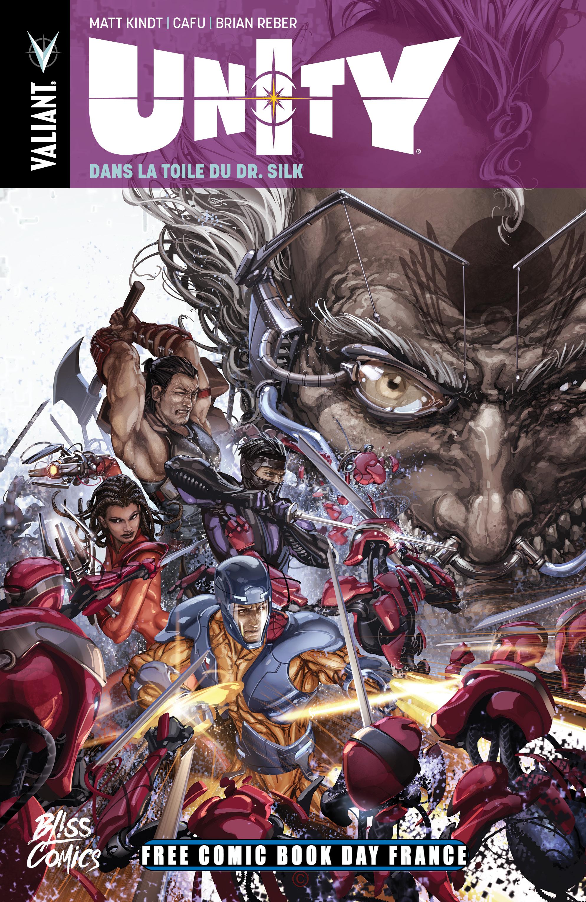 Unity : Dans la toile du Docteur Silk (0), comics chez Bliss Comics de Kindt, Cafu, Reber, Crain