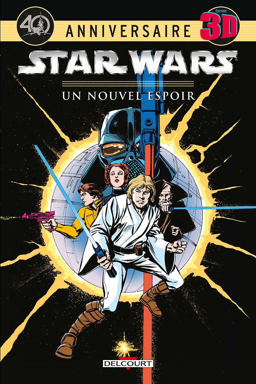 Star Wars - Un Nouvel Espoir : Edition 3D (0), comics chez Delcourt de Thomas, Hoberg, Chaykin, Wray, Leialoha, Cockrun, Wein, Severin, Gafford