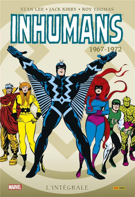 Inhumans - L'intégrale T1 : 1967-1972 (0), comics chez Panini Comics de Lee, Goodwin, Thomas, Kirby, Drake, Conway, Sutton, Adams, Sekowsky, Colan, Colletta, Palmer, Glass, Sinnott, Kelleher