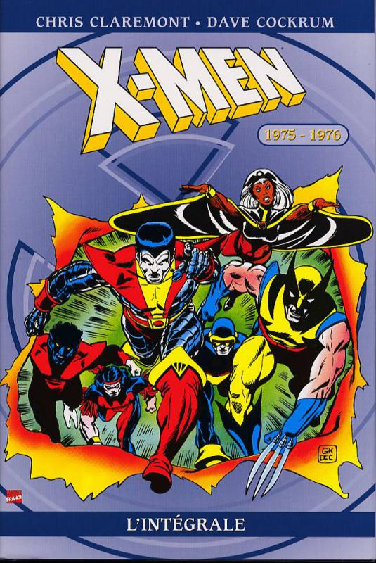 X-Men - L'intégrale T9 : 1975-1976 (0), comics chez Panini Comics de Wein, Claremont, Cockrum, Mantlo, Buccellato, Rachelson, Roussos, Cohen, Stein, Goldberg, Rockwitz, Wein