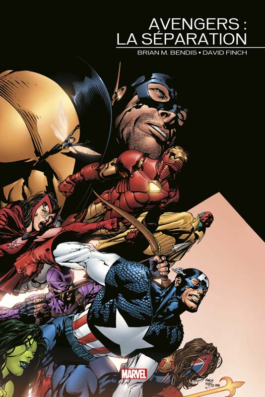 Marvel Events : Avengers - La Séparation (0), comics chez Panini Comics de Lee, Bendis, Frank, Kirby, Maleev, Kolins, Oeming, Gaydos, Sharen, Coipel, Perez, Weeks, Perkins, Epting, Byrne, Cheung, Mayhew, Finch, Dwyer, Davis, Powell, Jones, Anderson, Robertson, McNiven, Golden, Pantazis, Hollowell, d' Armata, Troy, Reber, Ponsor
