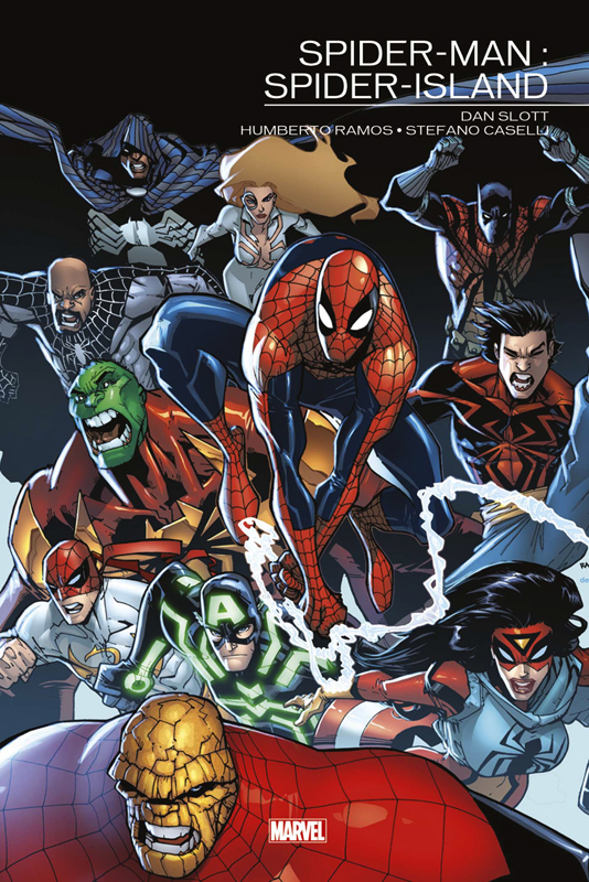Marvel Events : Spider-Man - Spider-Island (0), comics chez Panini Comics de Van Lente, Gage, Slott, Oosterveer, Ramos, Rios, Kitson, Caselli, Fiumara, Camuncoli, Garbett, Martin jr, Delgado, d' Armata, Gracia, Curiel, Rodriguez