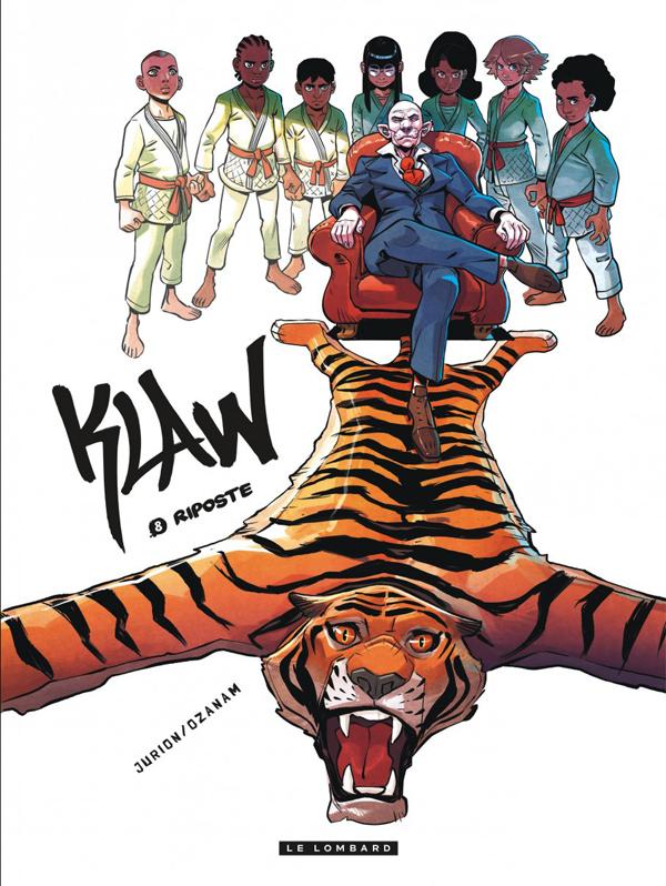 Klaw T8 : Riposte (0), bd chez Le Lombard de Ozanam, Jurion, Guillé