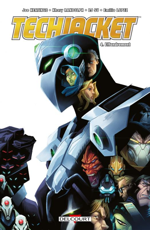 Tech Jacket T4 : Effondrement (0), comics chez Delcourt de Keatinge, Su, Randolph, Lopez