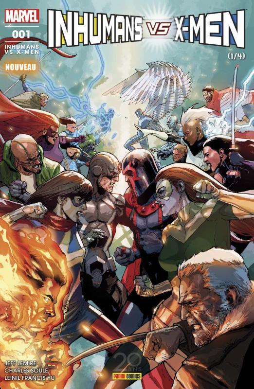 Inhumans vs X-Men T1, comics chez Panini Comics de Lemire, Soule, Yu, Alanguilan, Curiel