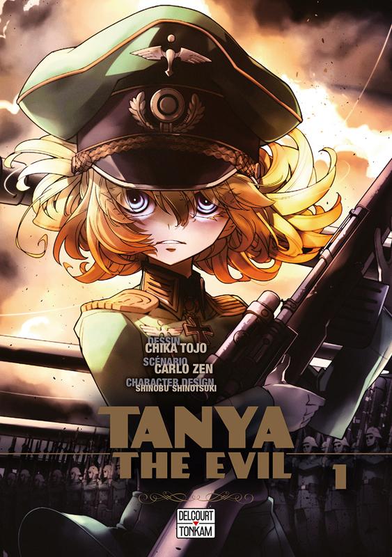 Tanya the evil T1, manga chez Delcourt Tonkam de Carlo, Tôjô