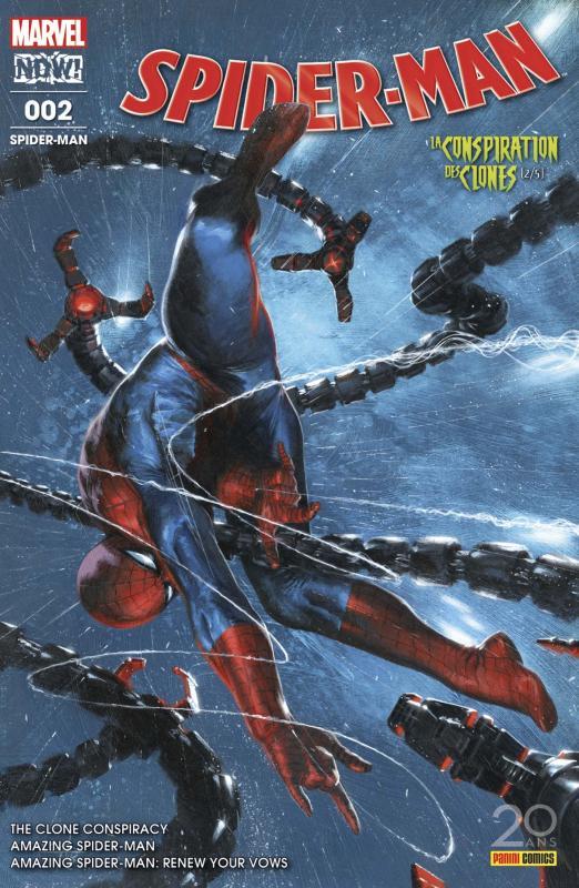 Spider-Man (revue) T2 : La conspiration des clones (2/5) (0), comics chez Panini Comics de Holden, Conway, Slott, Camuncoli, Cheung, Stegman, Ponsor, Oback, Keith, Ross