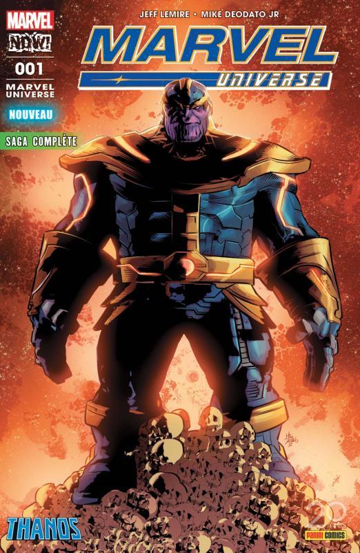 Marvel Univers (revue) (V5) T1 : Le retour de Thanos (0), comics chez Panini Comics de Lemire, Deodato Jr, Martin jr