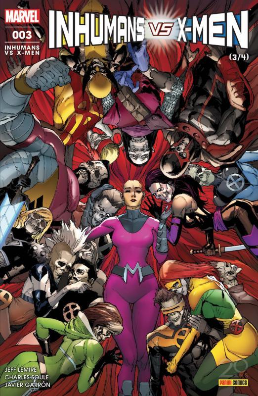 Inhumans vs X-Men T3, comics chez Panini Comics de Soule, Lemire, Garron, Curiel, Yu