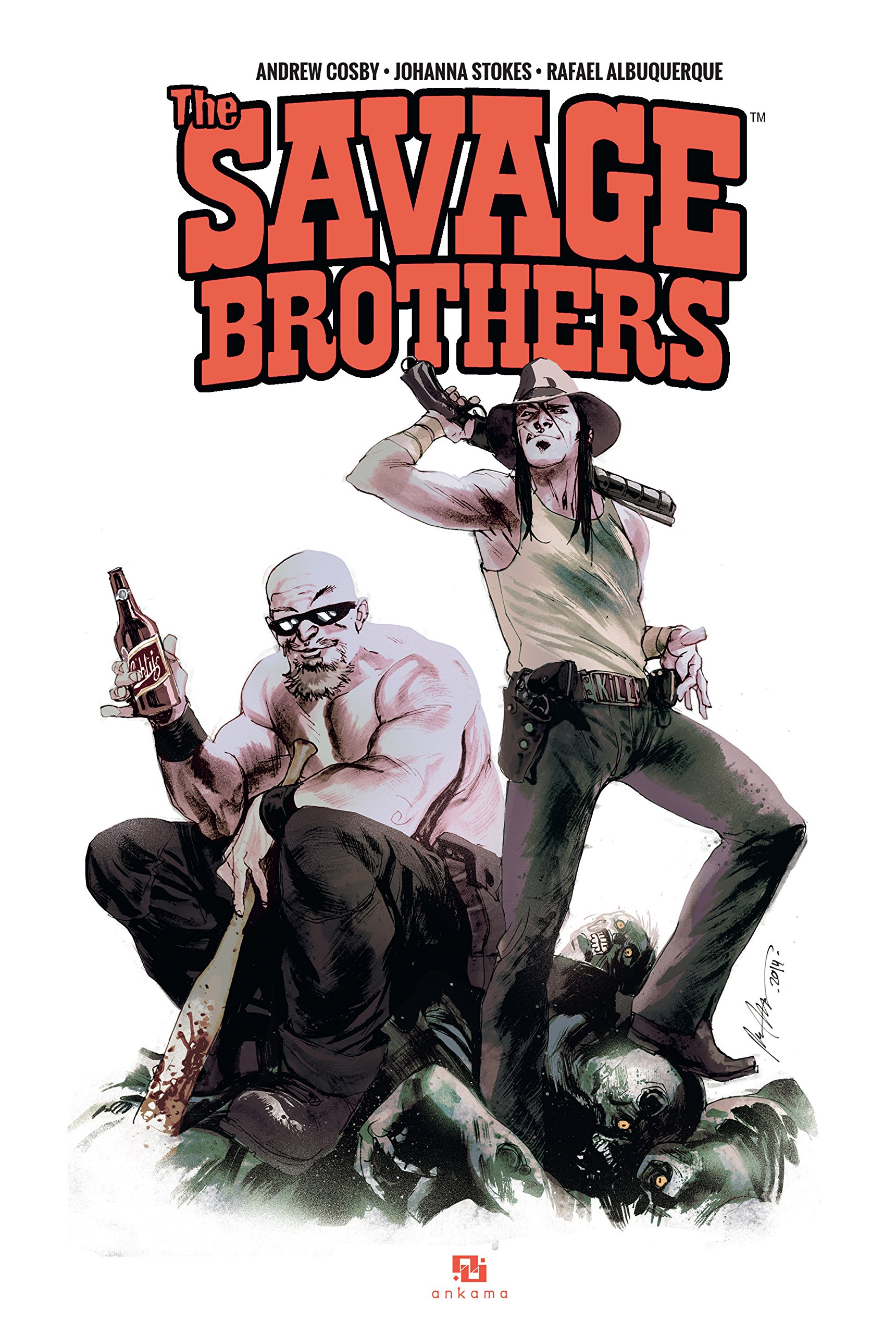 The Savage Brothers, comics chez Ankama de Cosby, Stokes, Albuquerque, Giffen, Woodard, Peter