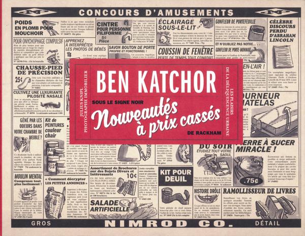 Nouveautés à prix cassés, bd chez Rackham de Katchor