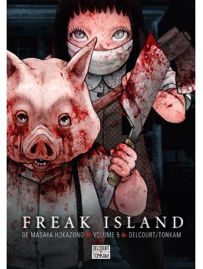 Freak island  T5, manga chez Delcourt Tonkam de Hokazono
