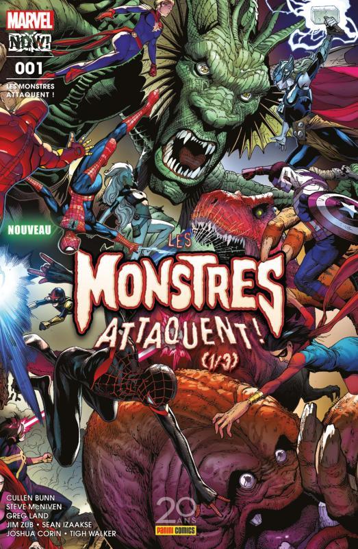 Les Monstres Attaquent ! T1, comics chez Panini Comics de Corin, Zub, Bunn, Izaakse, Land, Walker, McNiven, Curiel, Rosenberg, d' Armata
