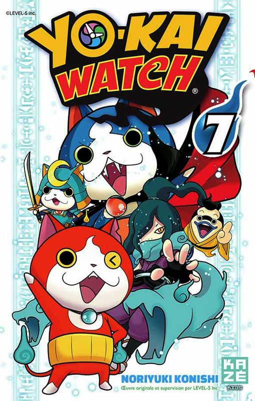 Yo-kai watch  T7, manga chez Kazé manga de Konishi