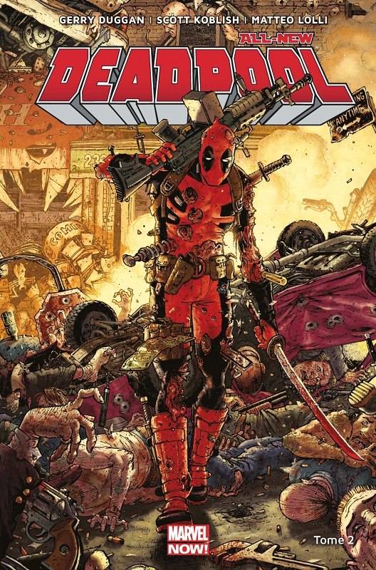 All-New Deadpool T2 : Deadpool contre Dents de Sabre (0), comics chez Panini Comics de Posehn, Duggan, Coello, Lolli, Koblish, Filardi, Redmond, Moore