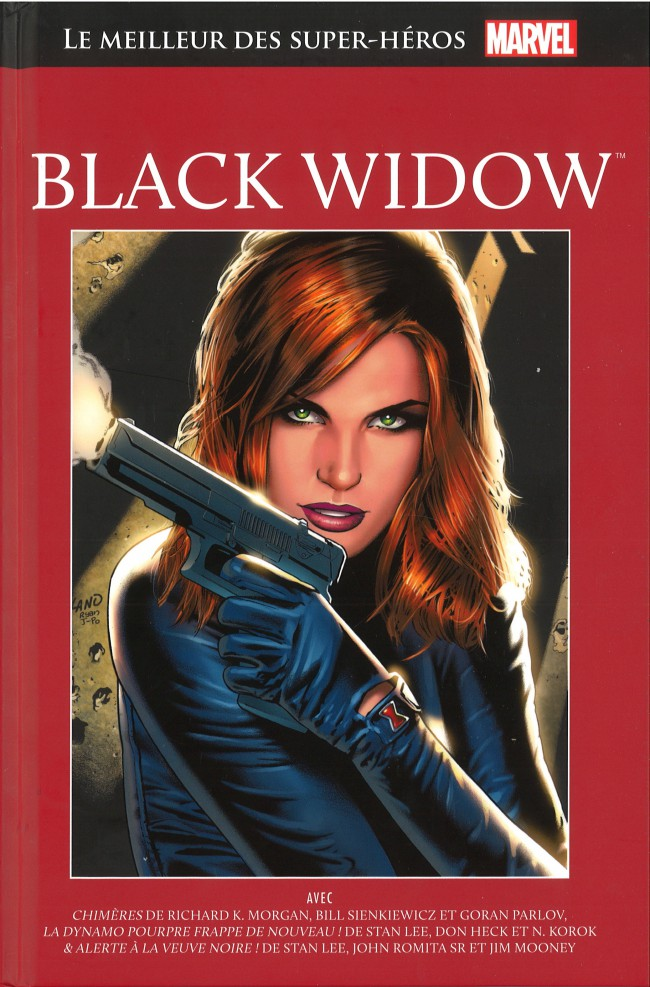 Marvel Comics : le meilleur des super-héros T13 : Black Widow (0), comics chez Hachette de Lee, Morgan, Korok, Parlov, Romita Sr, Heck, Sienkiewicz, Mooney, Brown