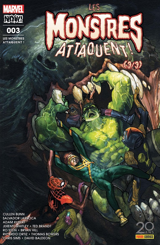 Les Monstres Attaquent ! T3, comics chez Panini Comics de Sims, Whitely, Bowers, Williams, Bunn, Kubert, Lindsay, Baldeon, Stein, Brandt, d' Armata, Menyz, Garland, Curiel, Sanz, Bianchi