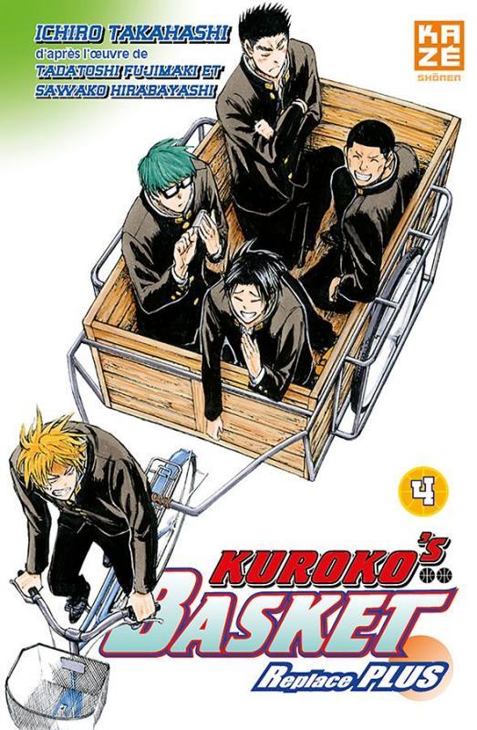 Kuroko's basket Replace PLUS T4, manga chez Kazé manga de  Fujimaki, Hirabayashi, Takahashi