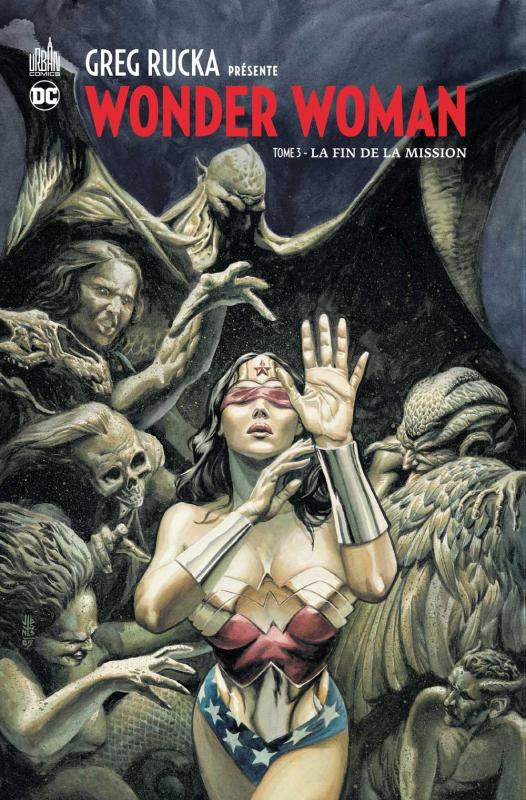 Greg Rucka présente Wonder Woman T3 : La fin de la mission (0), comics chez Urban Comics de Johns, Rucka, Johnson, Lopez, Randall, Jeanty, Rags, Kerschl, Justiniano, Derenick, Phillips, Richards, Wildstorm fx, Sinclair, Horie, Horie, Jones