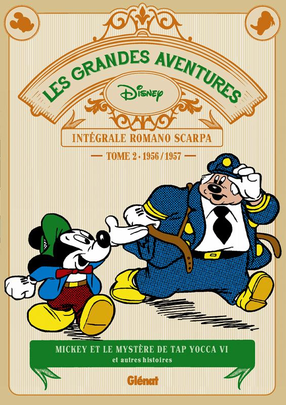 Grandes aventures de Romano Scarpa T2 : 1956/1957 - Mickey et le Mystère de Tap Yocca VI et autres histoires (0), bd chez Glénat de Scarpa
