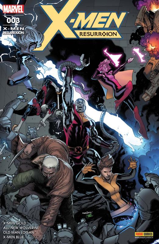 X-Men Resurrxion T3 : Techno Superior (0), comics chez Panini Comics de Guggenheim, Lemire, Bunn, Taylor, Lopez, Kirk, Silva, Nguyen, Kniivila, Mossa, Garland, Sotomayor, Martin jr, Marquez