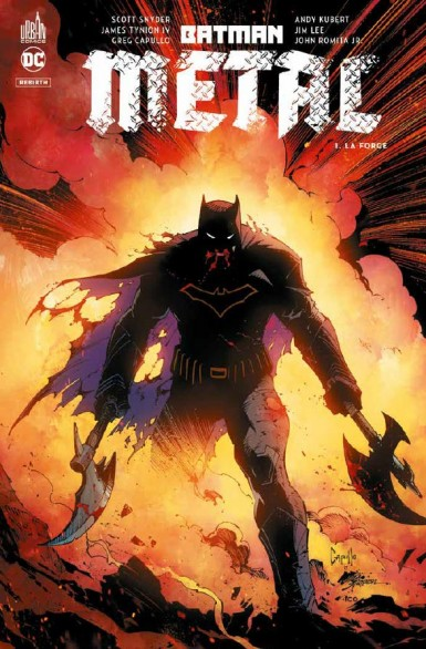Batman métal  T1 : La forge (0), comics chez Urban Comics de Percy, Snyder, Seeley, Williamson, Williams, Tynion IV, Ferreyra, Lee, Sejic, Romita Jr, Pelletier, Capullo, Andolfo, Skipper, Fajardo Jr, FCO Plascencia, Lucas, Sinclair