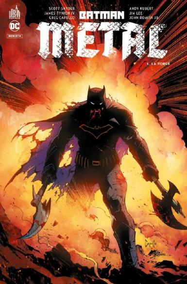 Batman métal : le multivers noir T1 : La forge (0), comics chez Urban Comics de Percy, Snyder, Seeley, Williamson, Williams, Tynion IV, Ferreyra, Lee, Sejic, Romita Jr, Pelletier, Capullo, Andolfo, Skipper, Fajardo Jr, FCO Plascencia, Lucas, Sinclair