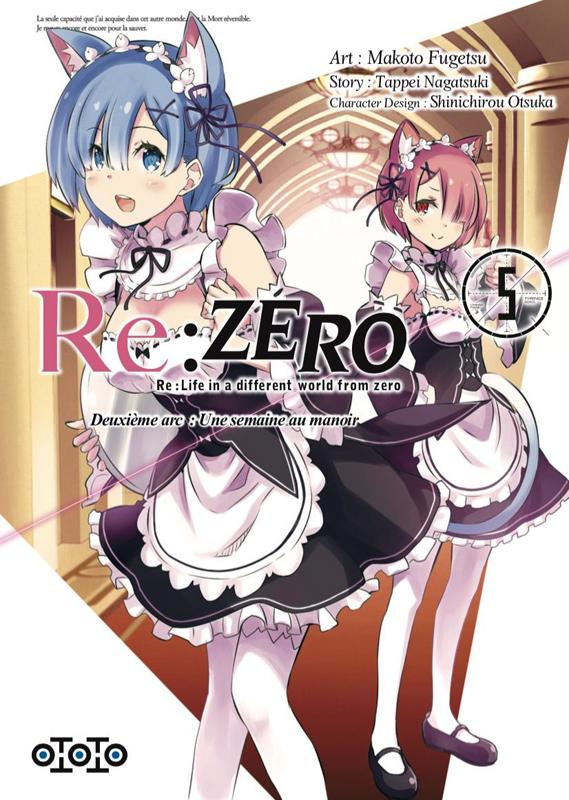 Re:Zero – 2e arc : une semaine au manoir, T5, manga chez Ototo de Nagatsuki, Matsuse