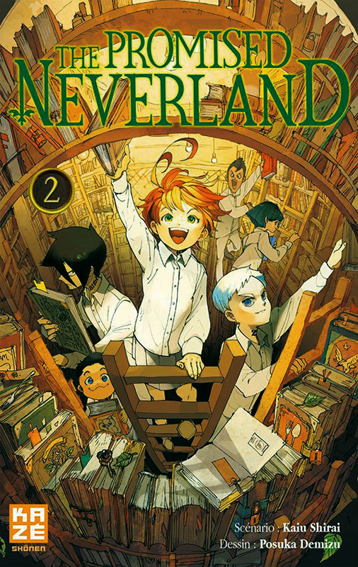 The promised neverland T2, manga chez Kazé manga de Shirai, Demizu