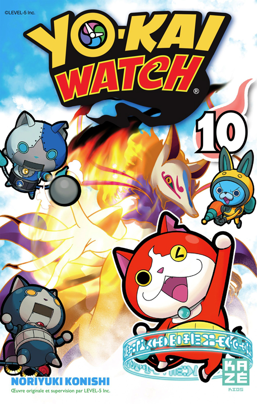 Yo-kai watch  T10, manga chez Kazé manga de Konishi, Level-5