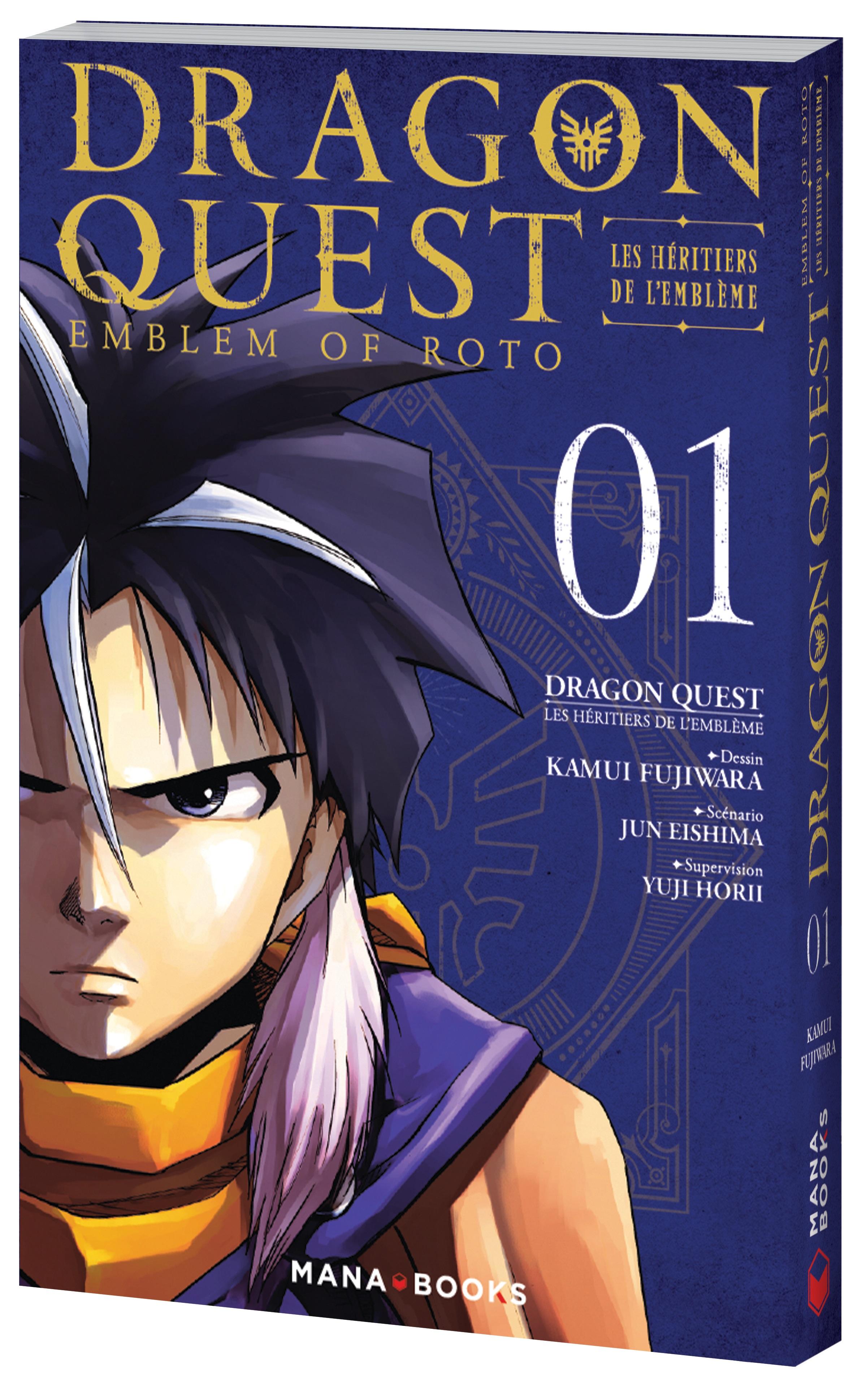 Dragon quest - Les héritiers de l'emblème T1, manga chez Mana Books de Eishima, Fujiwara