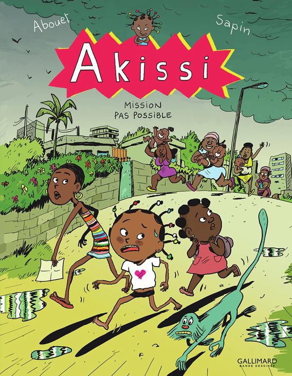 Akissi T8 : Mission pas possible (0), bd chez Gallimard de Abouet, Sapin