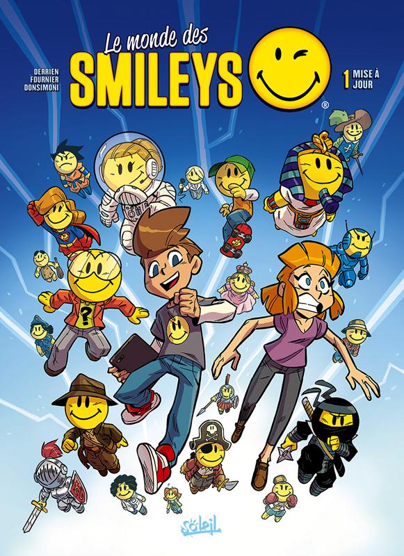 Le Monde des smileys T1 : Mise à jour (0), bd chez Soleil de Derrien, Fournier, Donsimoni, Georges