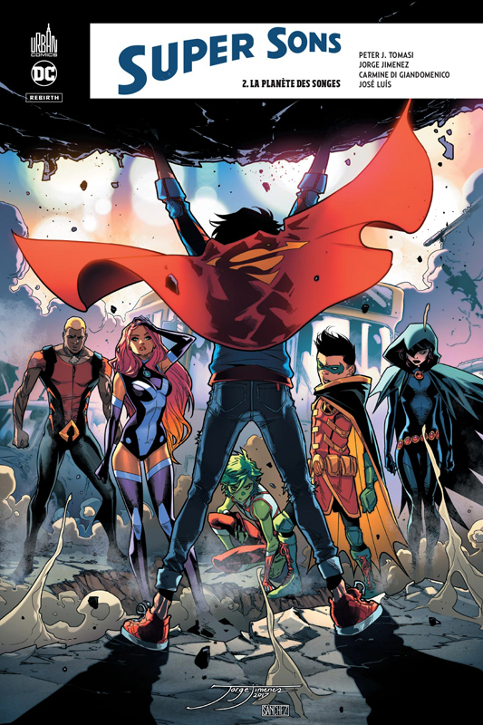 Super Sons T2 : La planète des songes (0), comics chez Urban Comics de Tomasi, Jimenez, Di Giandomenico, Hi-fi colour, Plascencia
