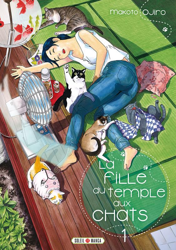 La fille du temple au chats T1, manga chez Soleil de Ojiro